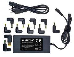 Univerzální adaptér k notebooku 90W s USB výstupem a 11 výměnnými konektory