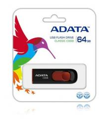 A-Data C008 64GB - USB Flash Disk, černo/červená