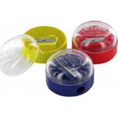 Ořezávátko s krytem, nízké, plastové, barevný assort