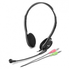 GENIUS HS-200C sluchátka s mikrofonem, černá