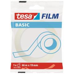 Páska lepicí Tesa® BASIC, 19 mm x 66 m, transparentní
