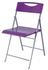 Skládací židle SMILE fialová 2ks