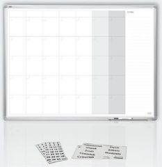 měsíční plánovací tabule 120x90, ALU23